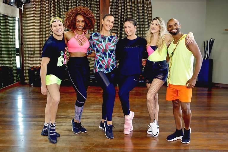 Ivete Sangalo e Claudia Leitte gravam coreografia de 'Corpo Molinho' com Dani Calabresa