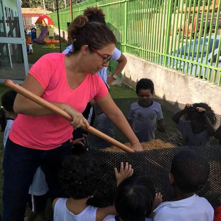 Projeto compostagem nas escolas