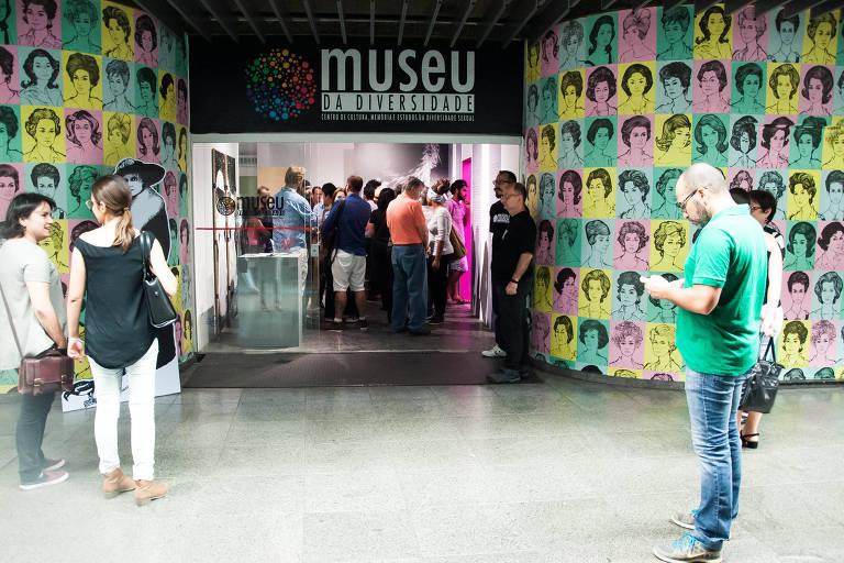 Fachada do Museu da Diversidade Sexual, localizado na estação República do metrô