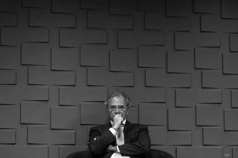 O ministro da Economia, Paulo Guedes, durante cerimônia em Brasília, em janeiro deste ano