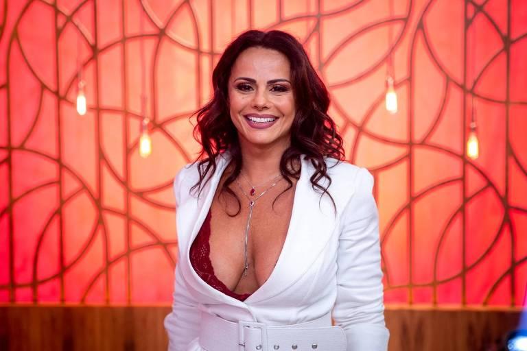 Viviane Araújo no Encontro (Globo)