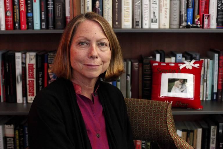 A então editora-executiva do jornal The NEw York Times, Jill Abramson, em Nova York