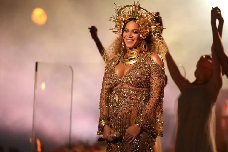 Beyoncé durante apresentação no Grammy, em 2017