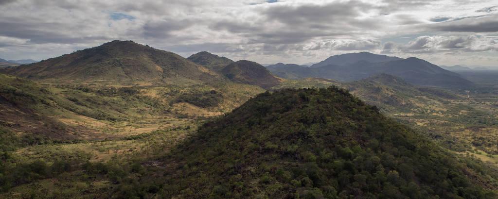 Vista aérea da Terra Indígena Raposa Serra do Sol (RR), cuja demarcação tem sido criticada pelo presidente Jair Bolsonaro