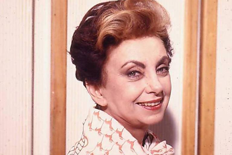 "Atriz Beatriz Segall como Odete Roitman na novela ""Vale Tudo"""