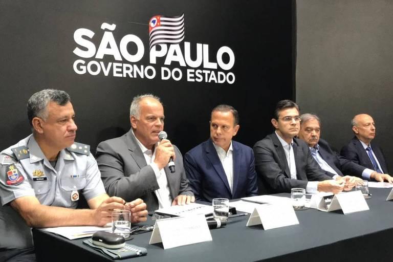 O governador de São Paulo, João Doria, assina decreto que cria quatro novos Baeps (Batalhões de Ações Especiais de Polícia) no estado