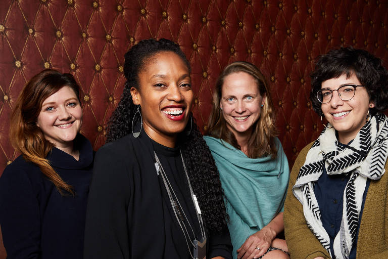 Da esq.: Mara Zepeda, Aniyia Williams, Astrid Scholz e Jennifer Brandel do movimento Zebras Unite, que encoraja diversidade no venture capital