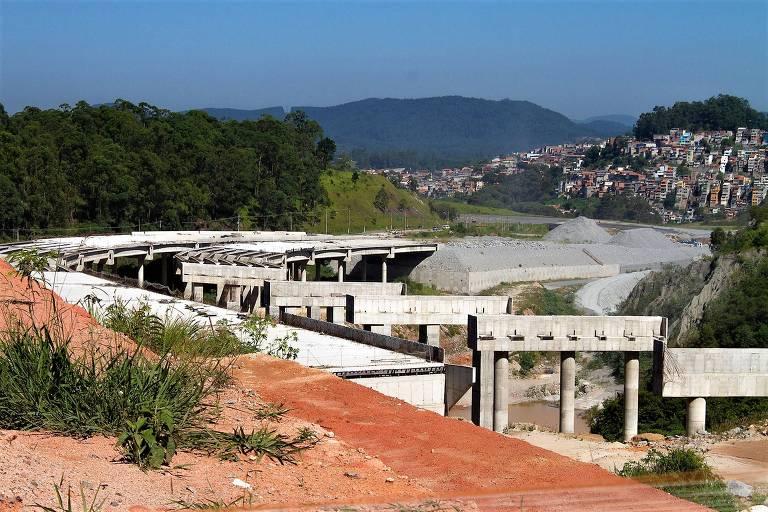 Obra do trecho do Rodoanel Norte, em São Paulo, pivô de investigação da Polícia Federal