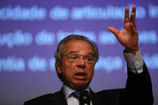 Brazil's Economy Minister Paulo Guedes attends an event of the Privatization of the electricity sector in Rio de Janeiro