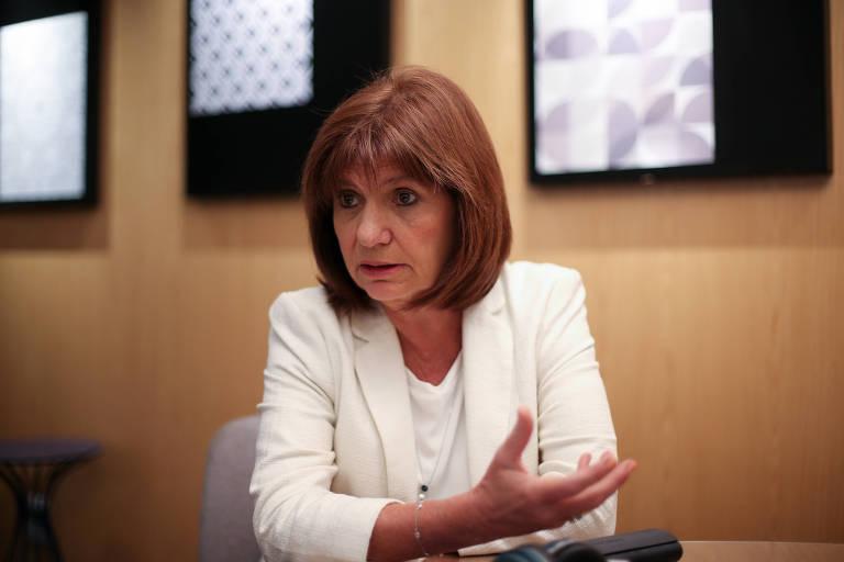A ministra argentina da Segurança, Patricia Bullrich, em Brasília durante visita oficial do presidente Mauricio Macri