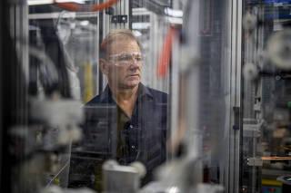 Steve Tuttle assembles a Taser at the Axon headquarters in Scottsdale, Ariz.