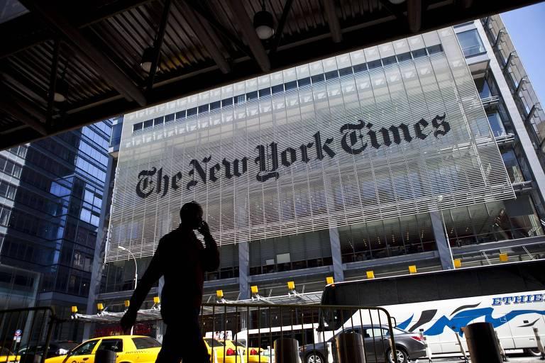 Fachada da sede do jornal The New York Times, em Nova York (EUA)