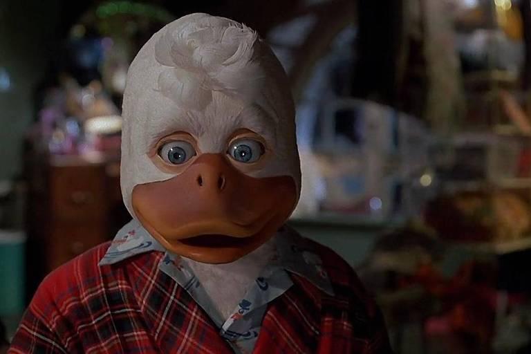 Imagem do filme sobre o super-herói Howard, o Pato