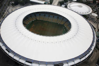 Aerial view of Maracana Stadium in Rio de Janeiro