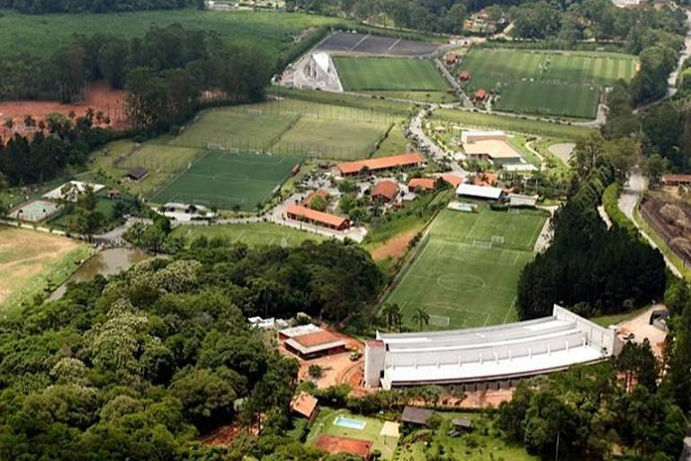 Vista aérea do CT de Cotia, onde o São Paulo mantém suas categorias de base
