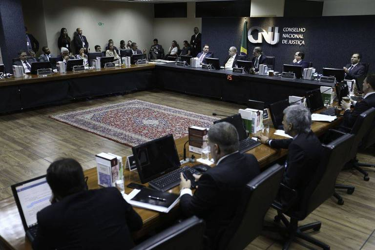 Reunião no CNJ (Conselho Nacional de Justiça) em dezembro de 2018, que endureceu as regras para concessão de auxílio-moradia para magistrados