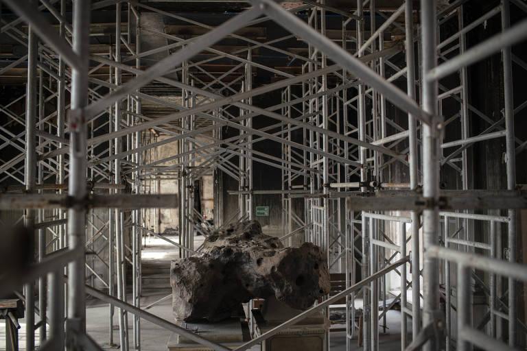 Museu Nacional pós-incêndio
