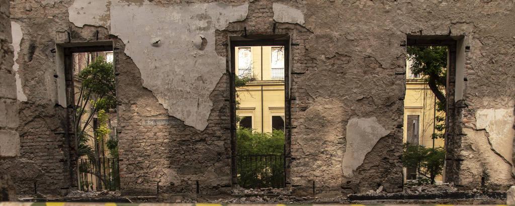 Museu Nacional cinco meses após incêndio que o destruiu