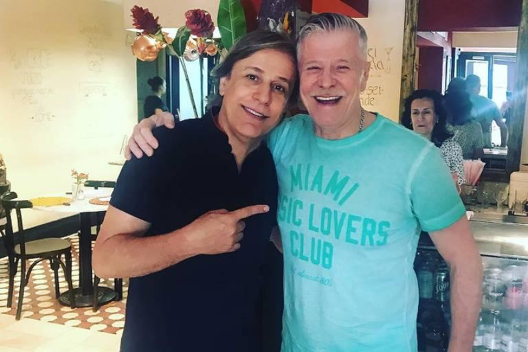 Tom Cavalcante e Miguel Falabella