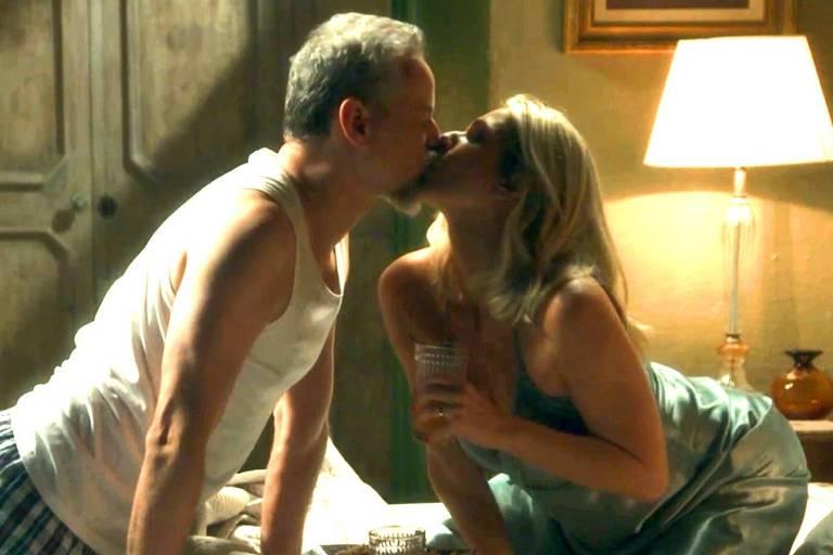 """Eurico (Dan Stulbach) e Marilda (Letícia Spiller) em cena de 'O Sétimo Guardião"""""""