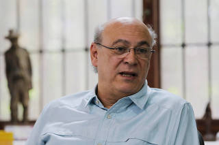 Journalist Carlos Fernando Chamorro, critic of the government of President Daniel Ortega speaks during an interview with Reuters in Managua