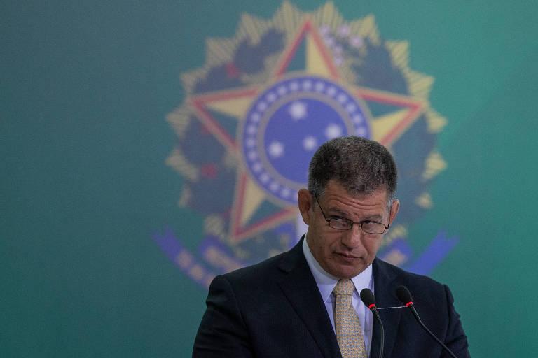 O ministro Gustavo Bebianno (Secretaria Geral) durante cerimônia de transmissão de cargo em Brasília em janeiro