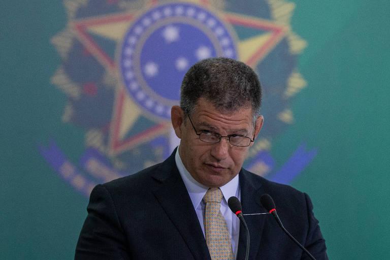 O ministro Gustavo Bebianno (Secretaria-Geral), que está no centro da crise no governo Bolsonaro causada pela revelação de esquema de candidaturas laranjas