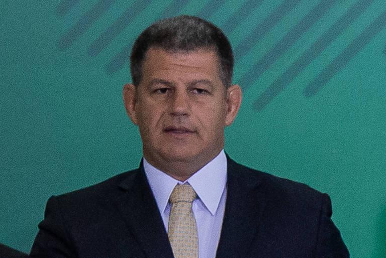 O ministro Gustavo Bebianno (Secretaria-Geral), durante cerimônia de transmissão de cargo
