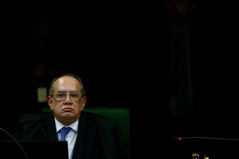 O ministro Gilmar Mendes, do STF, durante sessão na corte, em Brasília, em junho de 2018