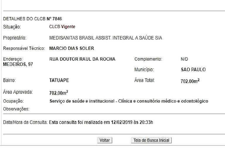 Certificado de Licença da Casa dos Atletas do Corinthians está enquadrada em categoria errada Imagem