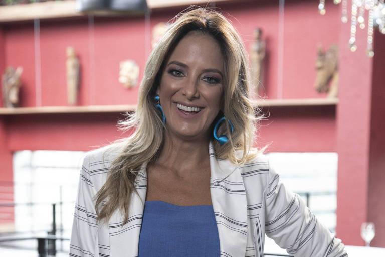 Ticiane Pinheiro durante as gravações do Troca de Esposas