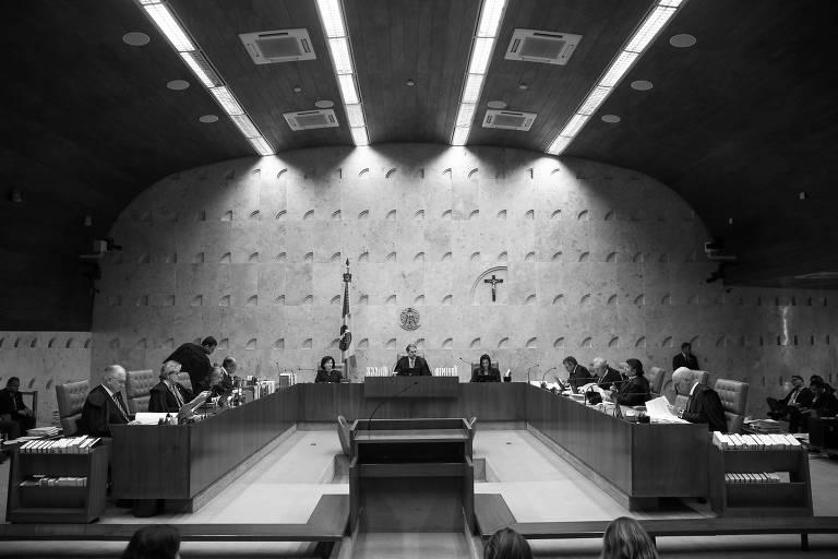 Sessão do Supremo Tribunal Federal, em Brasília