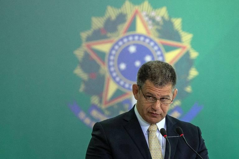 O ministro Gustavo Bebianno (Secretaria-Geral), que negou possibilidade de pedir demissão por conta de esquema de candidaturas laranjas no PSL.
