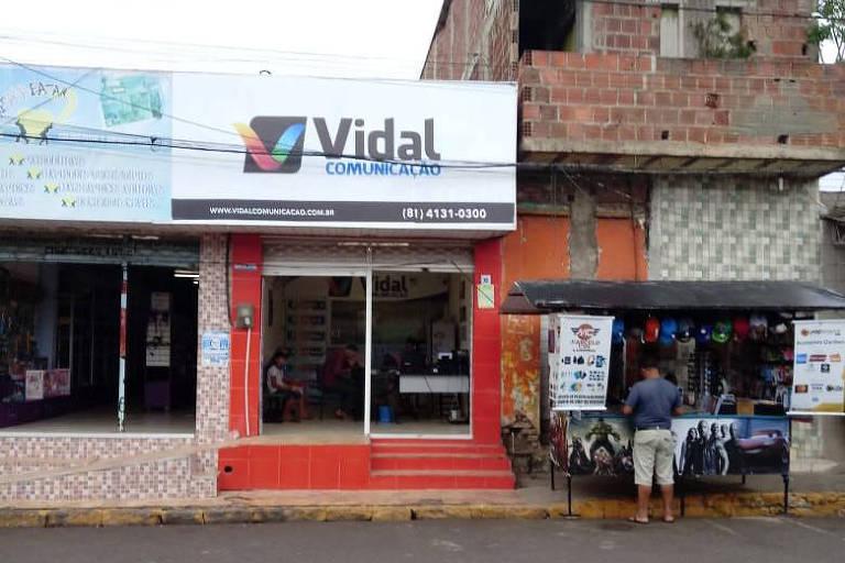 Gráfica Vidal, na cidade de Amaraji (PE), responsável pela impressão de material de campanha do PSL