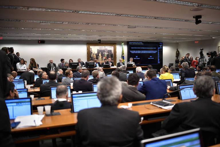 Sessão da CCJ (Comissão de Constituição e Justiça) da Câmara dos Deputados. Presidência da comissão foi prometida ao PSL nesta legislatura