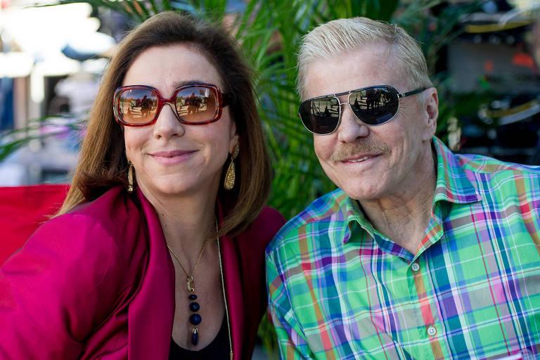 Marisa Orth e Miguel Falabella no filme Sai de Baixo