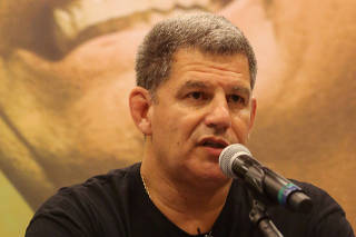 FILE PHOTO: Gustavo Bebianno, President of the Social Liberal Party (PSL) attends a news conference in Rio de Janeiro