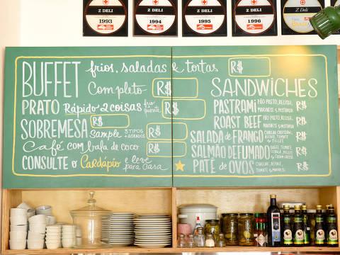 Menu do Z Deli é inspirado nas delicatessens nova-iorquinas