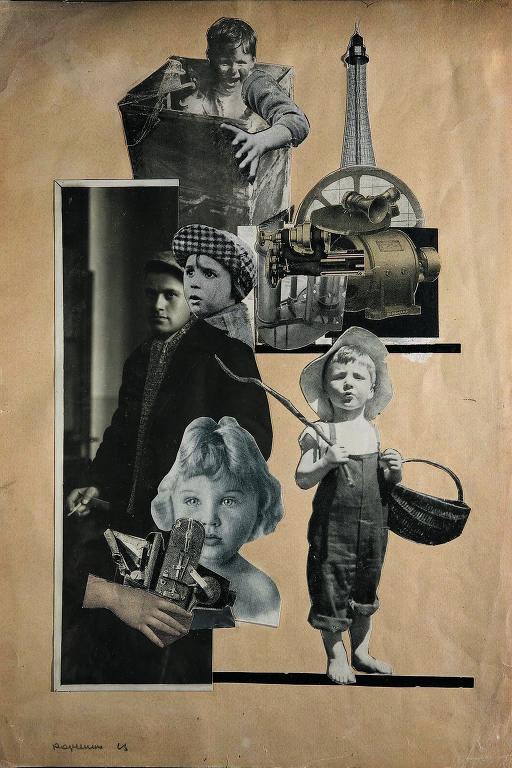 Colagem do artista Aleksandr Rodchenko feita em 1923 para o livro 'Sobre Isto', de Vladímir Maiakóvski