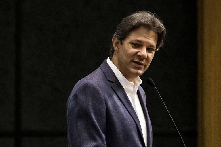 O ex-ministro e ex-presidenciável Fernando Haddad (PT), que teve campanha à Presidência multada pelo TSE