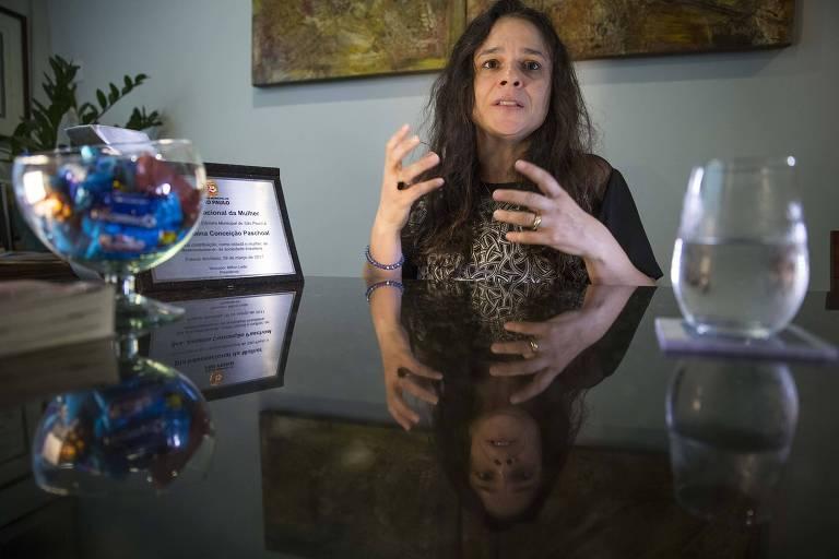 Deputada estadual Janaína Paschoal (PSL-SP) em seu escritório em São Paulo