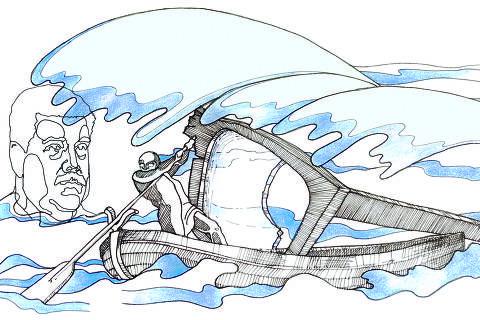 ilustração de ariel severino para o artigo do Ariel Dorfman . editoria MUNDO