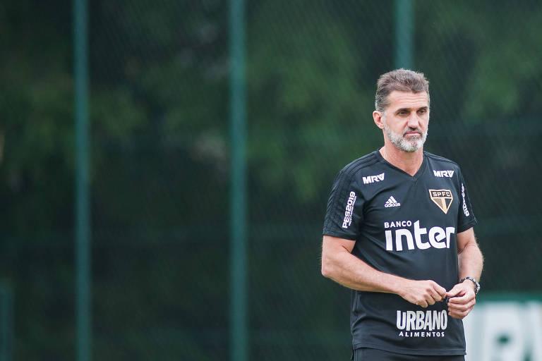 7c95380ede743 Mancini comanda treino do São Paulo antes de clássico com o Corinthians