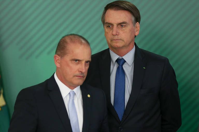 O presidente Jair Bolsonaro, que teria escalado o ministro Onyx Lorenzoni (Casa Civil) para falar com Bebianno