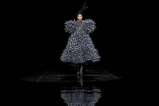 A model presents a creation from the Marc Jacobs collection during New York Fashion Week in New York
