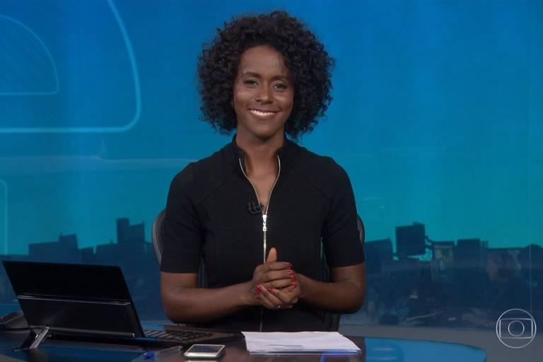 Maju Coutinho estreia na bancada do Jornal Nacional