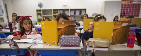 SAO PAULO - SP - 14.02.2019 - Colégio Santa Amália, na Vila Carrão. Popularização das escolas bilíngues com opções mais baratas, que vêm se expandindo especialmente na zona leste. (Foto: Danilo Verpa/Folhapress, COTIDIANO)