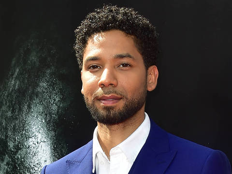 "(FILES) In this file photo taken on May 17, 2017,  actor Jussie Smollett arrives on the red carpet ahead of Sir Ridley Scott's Hand and Footprint ceremony in front of the TCL Chinese Theater in Hollywood, California. - Two ""potential suspects"" are being interrogated in the probe of a black, openly gay US television actor's report that he was assaulted in a hate crime, police said Friday, February 15, 2019. Actor Jussie Smollett, of the television program ""Empire,"" reported the early morning incident to police on January 29. The 36-year-old said two men beat him while he was walking on the streets of downtown Chicago at around 2:00 am, and yelled racial and homophobic slurs. (Photo by FREDERIC J. BROWN / AFP)"