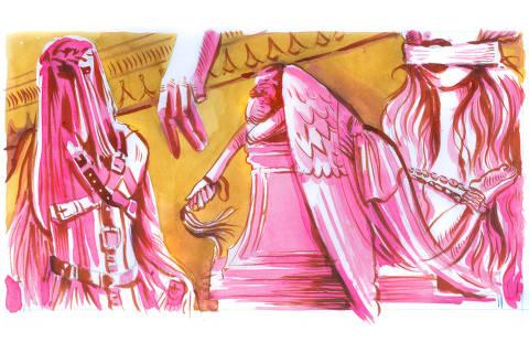 Ilustração de Ricardo Cammarota para Pondé de 18.fev.2019.