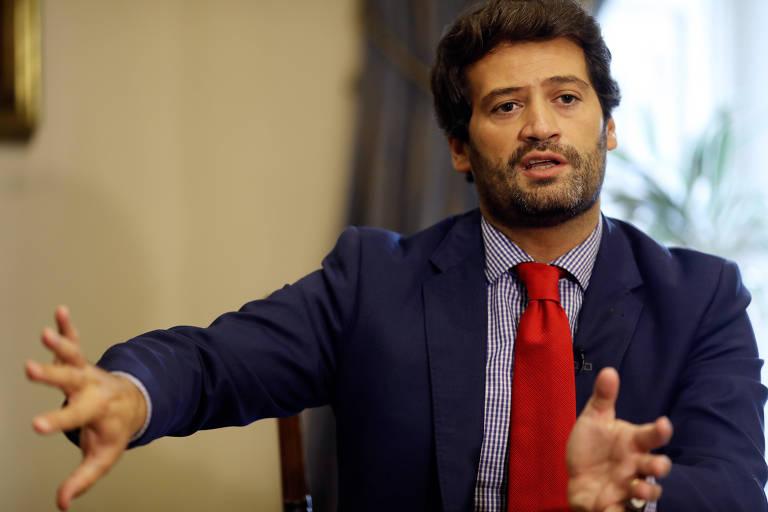 André Ventura, eleito para o Parlamento em Portugal com o partido recém-criado Chega